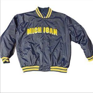 Michigan University Blue & Gold XXL Spellout Coat